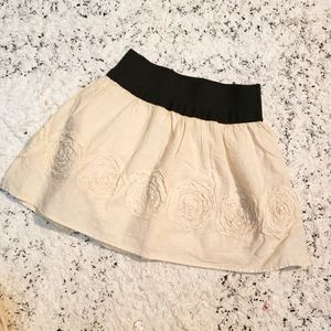 Cute boho mini skirt